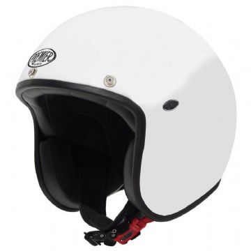 Premier Classic U8 Carbon Composite Motorcycle Bike Open Face Helmet Gloss White